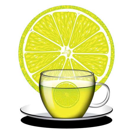 Cup of Zitronentee vector