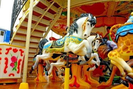fairground: Colorful carousel