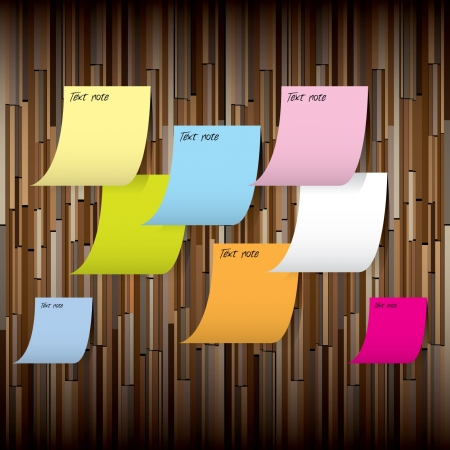 Background wood with Post it note Stock Vector - 16476409