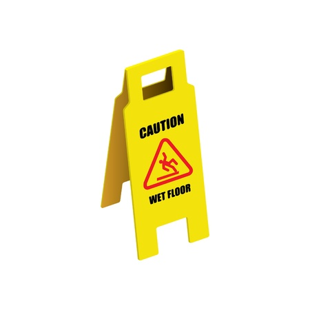 Vector sign caution wet floor Stock Vector - 16644186