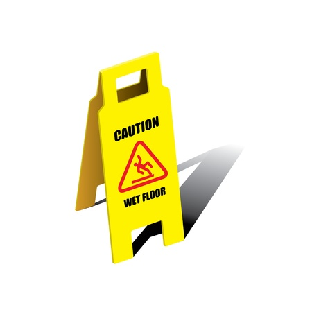 Vector sign caution wet floor Stock Vector - 16644187