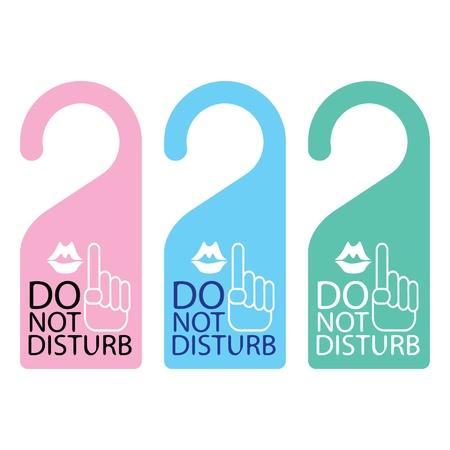 Door knob or hanger sign - do not disturb Stock Vector - 16644189
