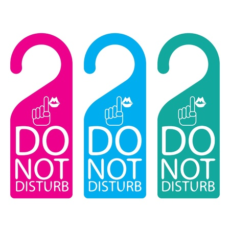 Door knob or hanger sign - do not disturb Vector