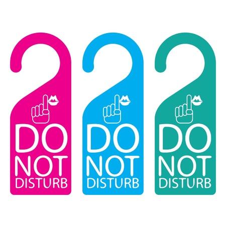 Door knob or hanger sign - do not disturb Stock Vector - 16644194