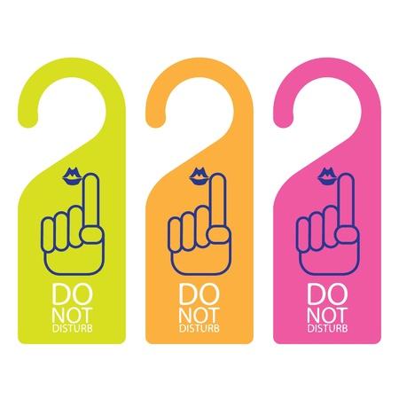 verst�ren: T�rklinke oder hanger sign - Bitte nicht st�ren