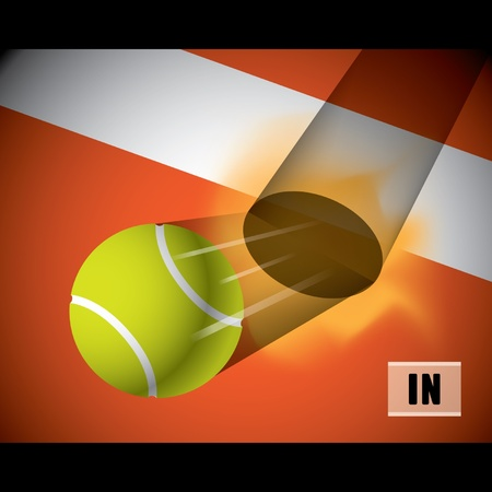 A tennis ball on the line Stock Vector - 16644267