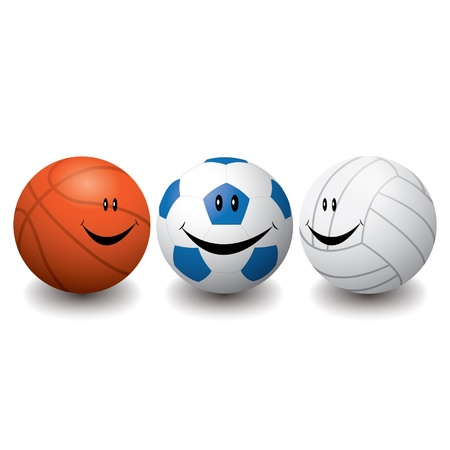 Smile sport balls Stock Vector - 16644238