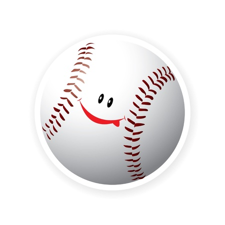 Smile sport baseball Stock Vector - 16644201