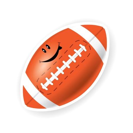 Smile sport American football Stock Vector - 16644248