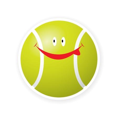 Smile sport tennis ball toon Stock Vector - 16644195