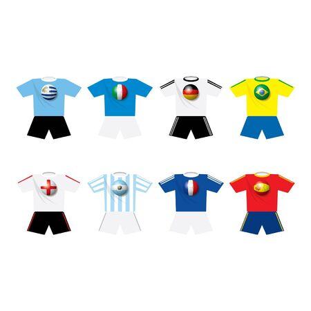 World champion soccer s teams t-shirts Imagens - 16644247