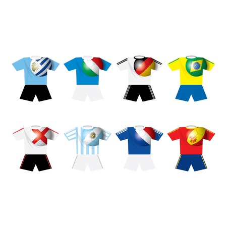 World champion soccer s teams t-shirts Ilustração