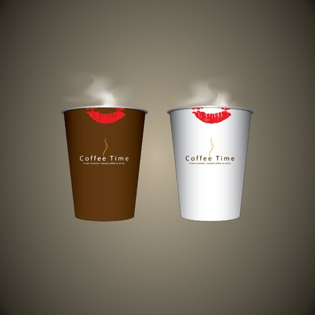 Vector 2 Paper coffee cup Stock Vector - 16644289