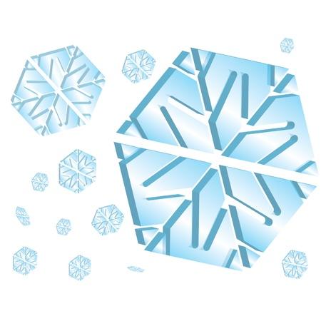 Snowflake Vectors Stock Vector - 16644291