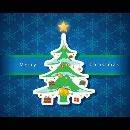 Christmas card vector Stock Vector - 16644299