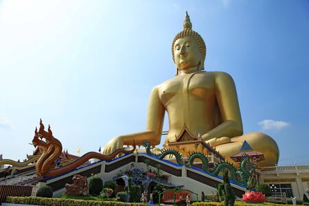 Buddha meditation statue in Thailand photo