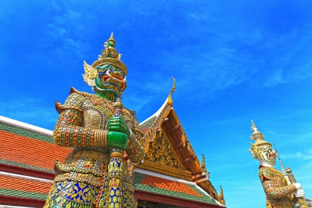 Demon Guardian Wat Phra Kaew Grand Palace Bangkok photo