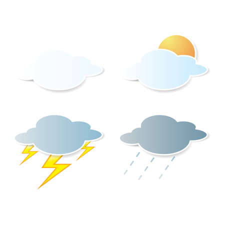 collection of clouds, Weather icon for design. Stock Vector - 17521950
