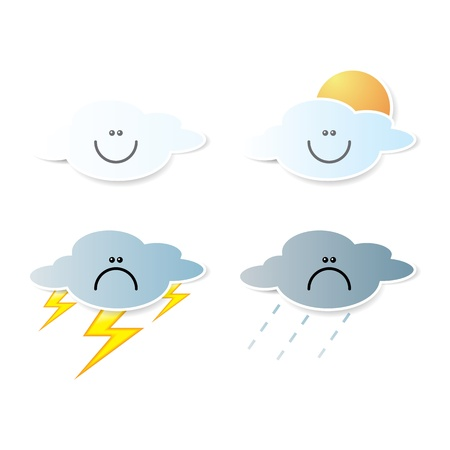 collection of clouds, Weather icon for design. Stock Vector - 17521984