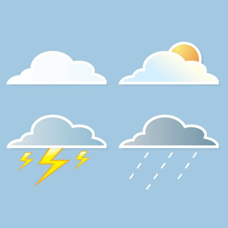 collection of clouds, Weather icon for design. Stock Vector - 17521889