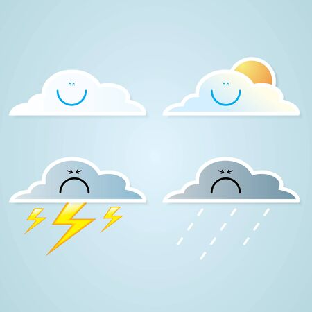 collection of clouds, Weather icon for design. Stock Vector - 17521886
