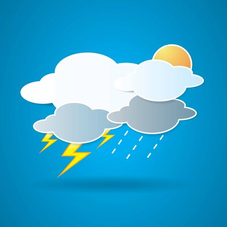 collection of clouds, Weather icon for design. Stock Vector - 17521882