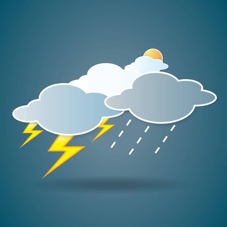collection of clouds, Weather icon for design. Stock Vector - 17521885