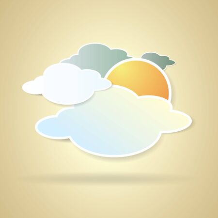 collection of clouds, Weather icon for design. Vector