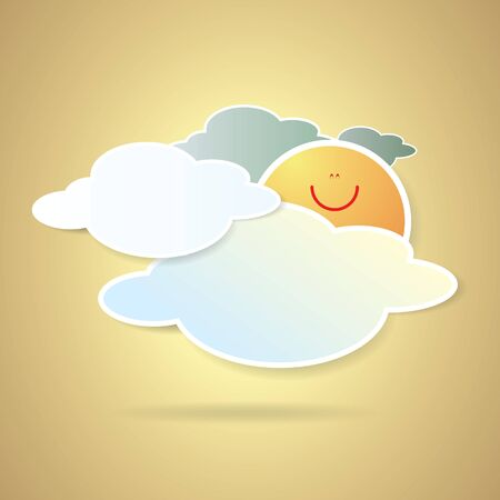 collection of clouds, Weather icon for design. Stock Vector - 17521874