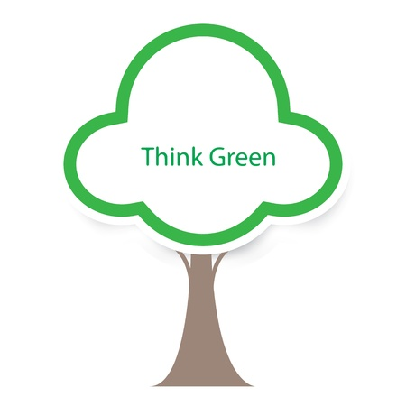 think green tree vector Stock Vector - 17521872