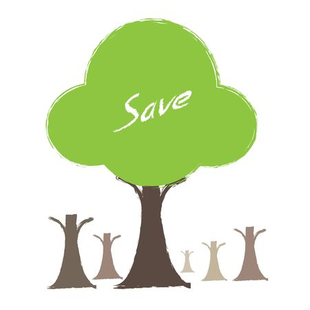 green tree vector concept Vector