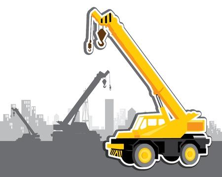 vector mobile crane Vector