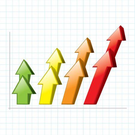 vector graph chart arrow Stock Vector - 17522090
