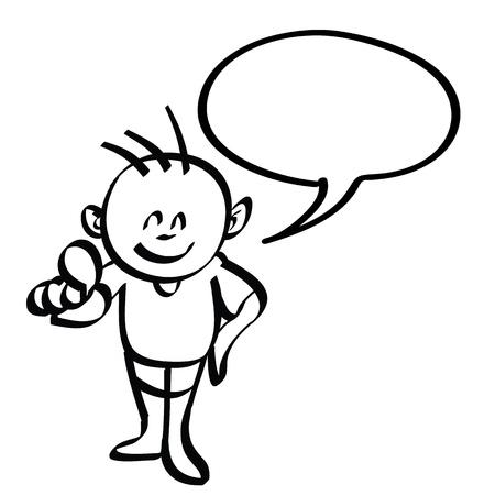 cartoon boy hand drawn  Stock Vector - 17808105