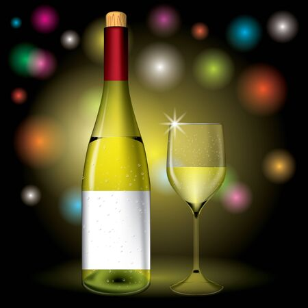 Bottle and wine glass vector Stock Vector - 17688964