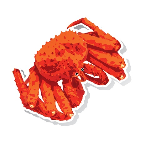 Alaskan king crab 矢量图像