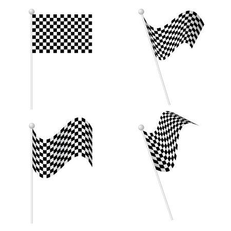 Checkered Flags set Stock Vector - 18420349