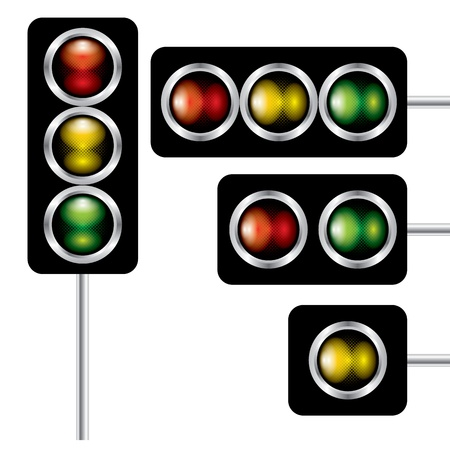 The abstract of traffic lights signal vector Stock Vector - 18434483