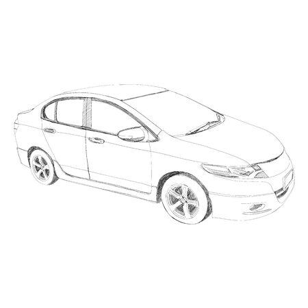 horsepower: Sport car - Hand drawn