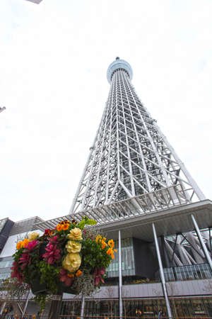 oshiage: Tokyo, Japan on March 03, 2013 Tokyo sky tree, Japanese radio tower Editorial