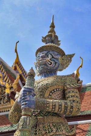 Demon Guardian Wat Phra Kaew Grand Palace Bangkok Thailand photo