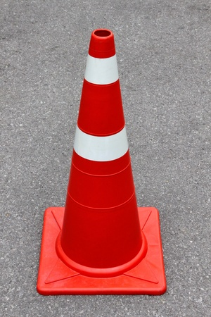 New traffic cone on the road  Stock Photo - 19317658