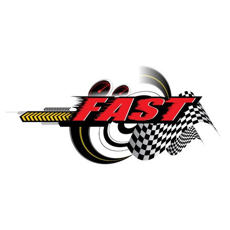 Alta velocità logo Concetto vettore Archivio Fotografico - 19832476