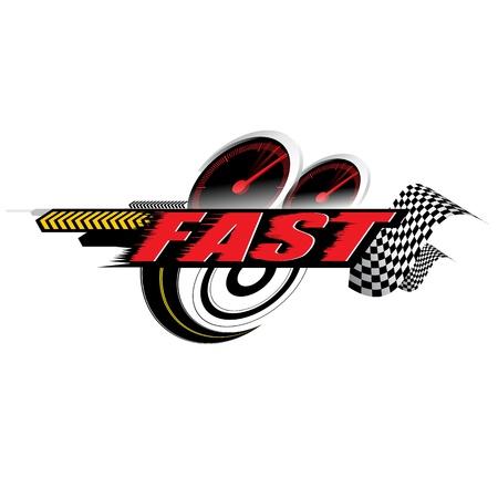 Velocità veloce logo Concetto vettore Archivio Fotografico - 19832492