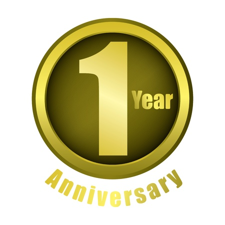 1 year anniversary: The abstract of 1 year anniversary creative concept vector