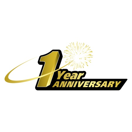 1 year anniversary: The abstract of 1 year anniversary creative concept
