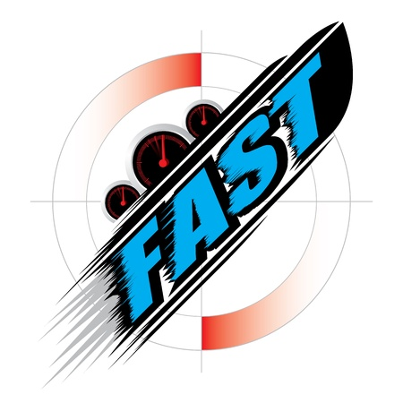 The abstract of Fast speed Concept vector Stock Vector - 20304337