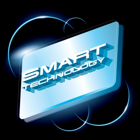 smart technology concept vector