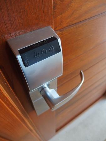 cardkey: Electronic lock on door