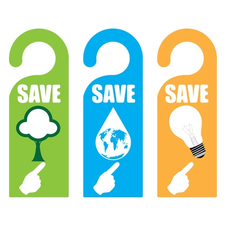 Symbolic of saving for the world concept Vector